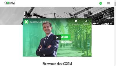 Site internet de Oxiam Energy