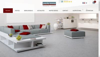Site internet de Pacfa Immobilier