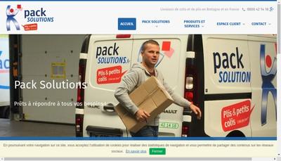 Site internet de Pack Solutions
