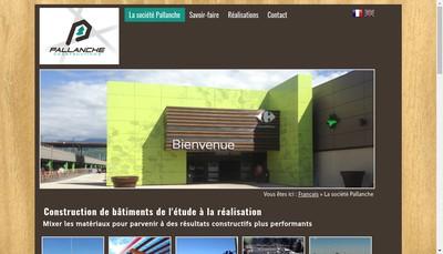 Site internet de Pallanche Constructions