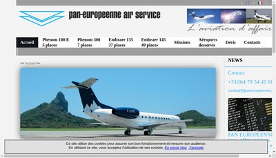 Site internet de Pan Europeenne Air Service