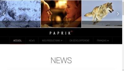 Site internet de Paprika Films