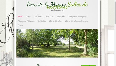 Site internet de Parc de la Mauny