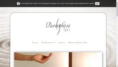 Site internet de Parenthese Spa