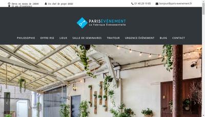 Site internet de Paris Evenement