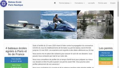 Site internet de Bastille Nautic