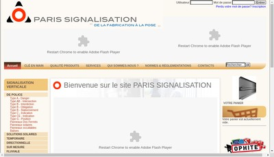 Site internet de Paris Signalisation