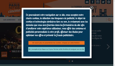 Site internet de Paris Fait Son Cinema