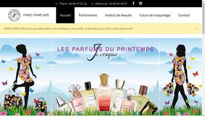 Site internet de Paris Parfums