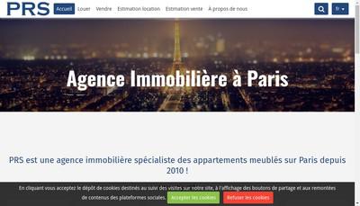 Site internet de Paris Rental Services