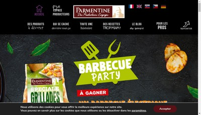 Site internet de SAS Parmentine Production