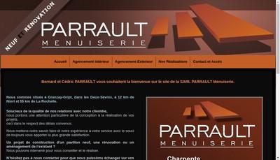 Site internet de Parrault Menuiserie