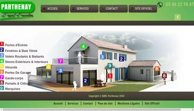 Site internet de Parthenay SARL