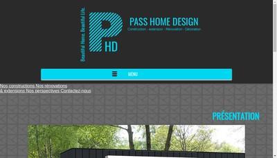 Site internet de Pass Home Design