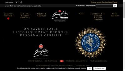 Site internet de Garofalo France