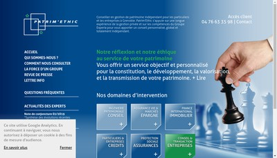 Site internet de Cabinet Patrim'Ethic