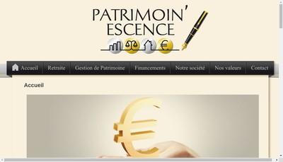 Site internet de Patrimoin'Escence