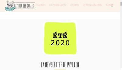 Site internet de Le Pavillon des Canaux