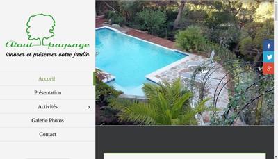 Site internet de Atout Paysage