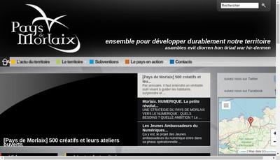 Site internet de SEM des Pays de Morlaix