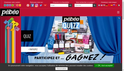 Site internet de Pebeo
