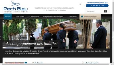 Site internet de Pech Bleu - Marbrerie Yedra