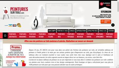 Site internet de FC Deco