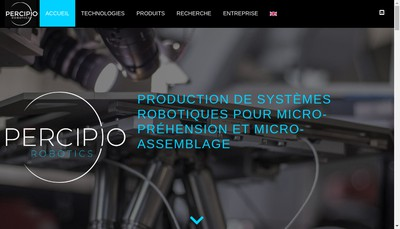 Site internet de Percipio Robotics