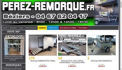 Site internet de Perez
