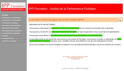 Site internet de Institut de la Performance Publique