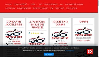 Site internet de Permis-Center Melun