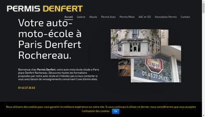 Site internet de Auto Ecole Denfert