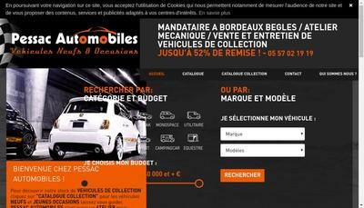 Site internet de Pessac Automobiles