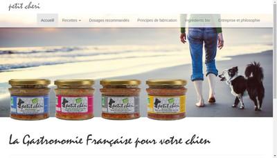 Site internet de Petit Cheri Pet Food et Accessoires