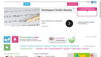 Site internet de Petites Tetes