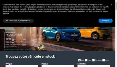 Site internet de Courtois Automobiles Guingamp