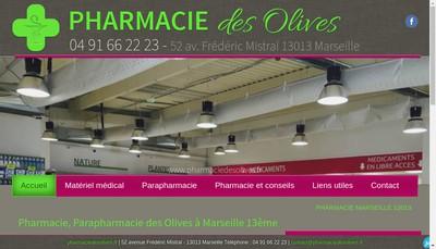 Site internet de Pharmacie des Olives