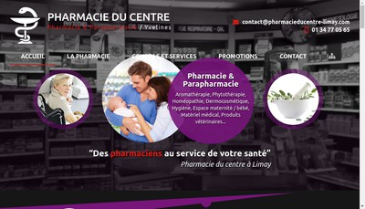 Site internet de Pharmacie du Centre