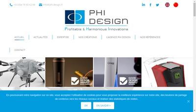 Site internet de Phi Design