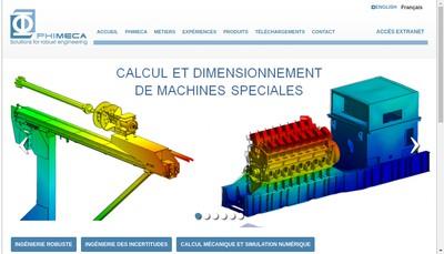 Site internet de Phi-Meca Engineering
