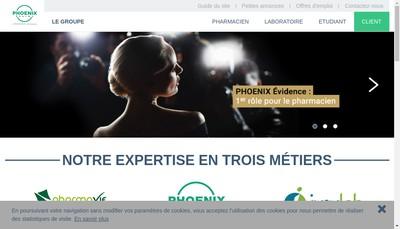 Site internet de Phoenix Pharma