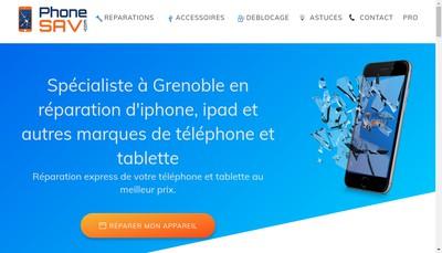 Site internet de Phone Sav