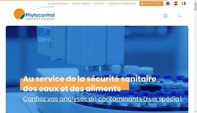 Site internet de Phytocontrol Invest'Immo