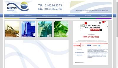 Site internet de Pian Entreprise