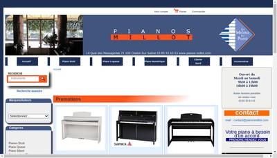 Site internet de Pianos Millot