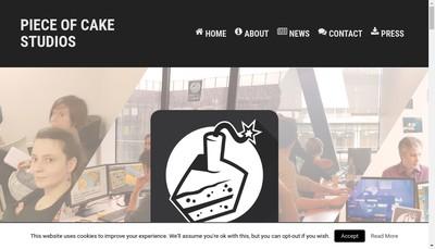 Site internet de Piece Of Cake Studios