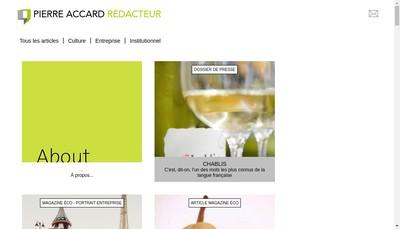 Site internet de Pierre Accard Communication