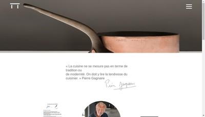 Site internet de Restaurant Pierre Gagnaire