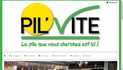 Site internet de Pil'Vite Diffusion