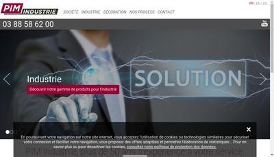 Site internet de Pim Industrie